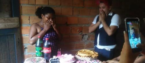 Wanessa ganhou uma festinha surpresa de 15 anos. (Foto: Arquivo Pessoal)