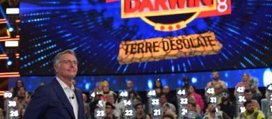 Ascolti tv 15 marzo: boom per Ciao Darwin che travolge la finale di Sanremo Young