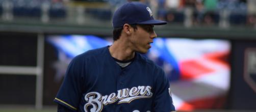 Christian Yelich was the National League MVP in 2018. [Image Source: Flickr | Ian D'Andrea]