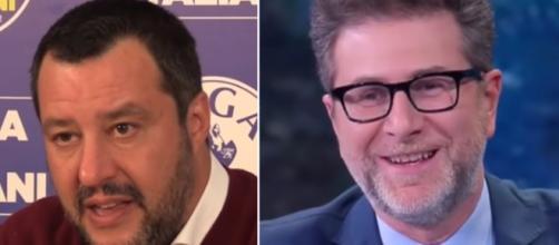 Matteo Salvini e Fabio Fazio, ancora un attacco del Ministro a distanza.