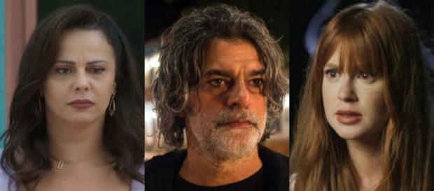 Neide, Murilo e Luz em 'O Sétimo Guardião'. (Foto: Reprodução/TV Globo)