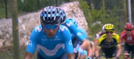 Nairo Quintana all'attacco alla Parigi-Nizza.