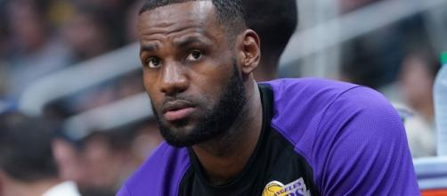 """LeBron is feeling """"challenged"""" by the Lakers' recent decision about his playing time. [Image via NBA/YouTube]"""