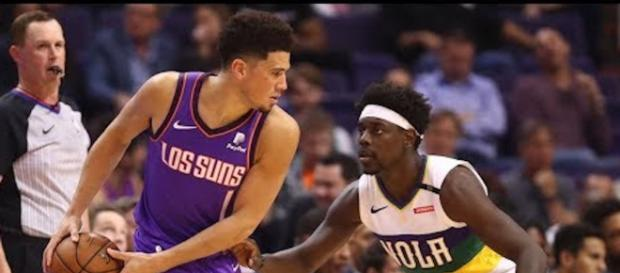 Devin Booker led the Suns to an overtime win on Saturday (Mar. 16). [Image via NBA/YouTube]
