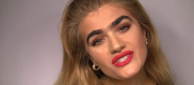 Model Sophia Hadjipanteli gets death threats on social media as effect of unibrow. [Image Source: Sophia Hadjipanteli - YouTube]