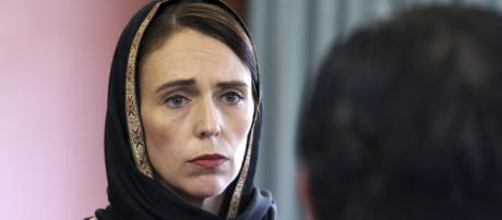 PM Ardern wearing a black headscarf and embracing mourners was seen consoling the mosque-goers. ...image - bt.com