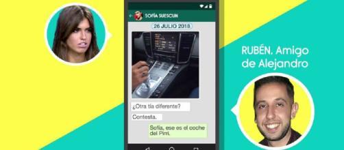 Los mensajes de Sofía a Alejandro, al descubierto en 'Sálvame'. / Telecinco