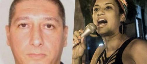 Ronnie Lessa e Marielle Franco. (Reprodução/TV Globo)