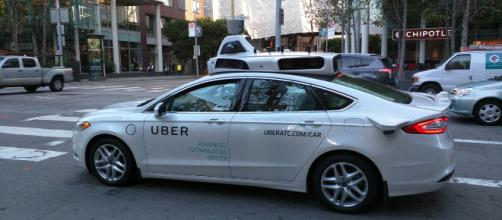 Uber vehicle in action. - [Diablanco / Wikimedia Commons]