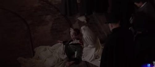 Una Vita anticipazioni: Celia muore (fonte Youtube - RTVE series)