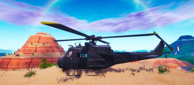 Mysterious helicopter has appeared in 'Fortnite.' - [Epic Games / Fortnite screencap]