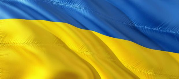 The Ukrainian flag, used often for politics. [Image via 1966666 - Pixabay]