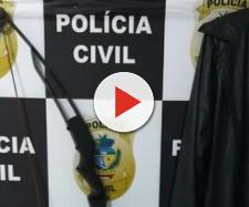 Armas e máscaras que seriam usadas pelos jovens (Foto: Reprodução/Polícia Civil)