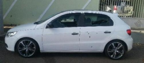 Ex-PM alveja carro do amigo mais de 30 vezes. (Reprodução/Polícia Militar)