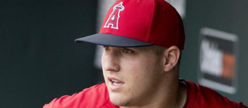 Mike Trout has tongues wagging Tuesday morning . [Image via Keith Allison/Flikr]