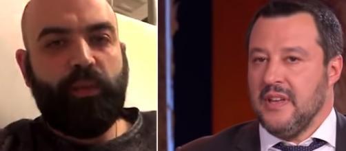 Saviano-Salvini, ancora parole forti tra i due