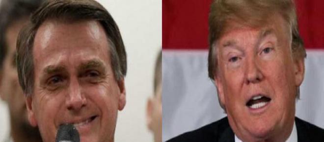 Bolsonaro declara apoio a Trump, e diz que parte dos imigrantes não são bem intencionados