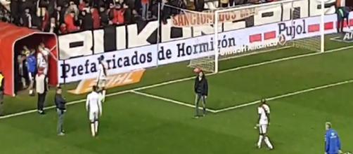 Kakuta se encaró con un sector de la afición del Rayo Vallecano al finalizar el partido
