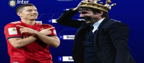 La nuova Inter con Conte e Lewandowski