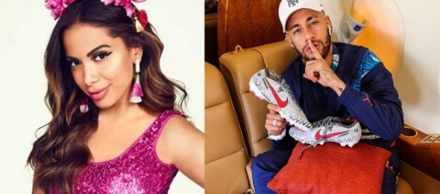 Anitta e Neymar (Foto - Instagram)