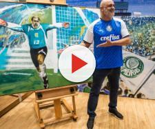 Goleiro Marcos fazendo campanha da nova camisa azul do Verdão. (Arquivo Blasting News)