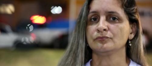 A professora Rosana Louzada que afirma ter sido torturada pelo ex-companheiro por 12 horas. (Reprodução/G1)