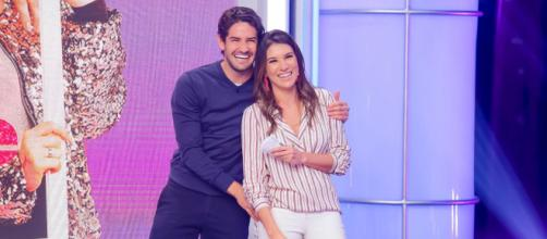 Alexandre Pato e Rebeca Abravanel. (Arquivo Blasting News)