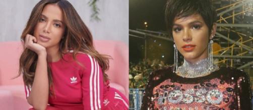 Anita e Marquezine têm nomes diferentes do RG e artístico. (Reprodução/Instagram/@anitta/@brunamarquezine)