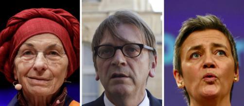 Emma Bonino, Guy Verhofstadt e Margrethe Vestager candidati con i liberali dell'ALDE