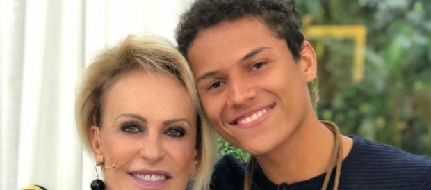 Ana Maria e Danrley. (Foto: Divulgação/TV Globo/Mais Você)