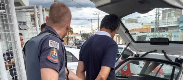 Homem foi preso em seu trabalho. (Crédito: Divulgação/ Polícia Militar)
