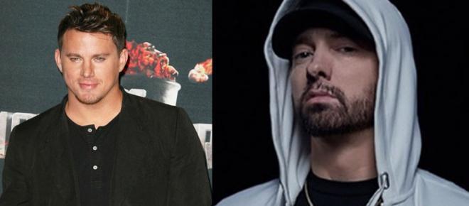 Channing Tatum surge loiro e fãs o comparam com rapper Eminem