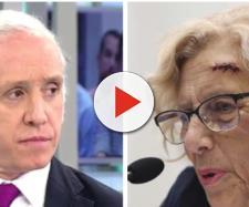 Eduardo Inda y Manuela Carmena