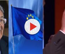 Romando Prodi invita ad esporre la bandiera dell'Europa, Salvini non è d'accordo
