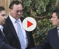 Sergio Moro e Rodrigo Maia durante encontro no início de fevereiro (Antonio Cruz/Agência Brasil)