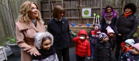 Kathie Lee Gifford plants seeds for learning at Cassidy's Place and always has a seat to welcme her back. [Image source:TODAY-YouTube]
