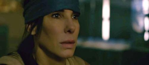 "A sequel to the novel ""Bird Box"" will focus on Sandra Bullock's character, Malorie. [Image Netflix/YouTube]"