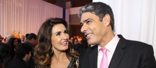 Fátima Bernardes e Bonner na época de casados. (Arquivo Blasting News)