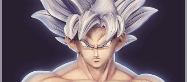 Impresionante escultura de Goku Ultra Instinto