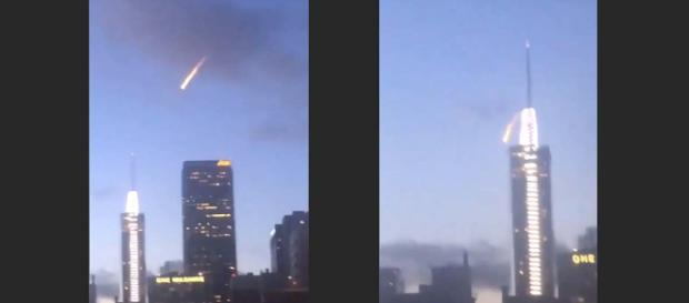 What looked like a fireball was merely a stunt launched by Red Bull. [Image Hub-LA/YouTube]