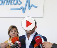 El presentador Jorge Javier Vázquez, al salir del hospital. / KAB (GTRES)