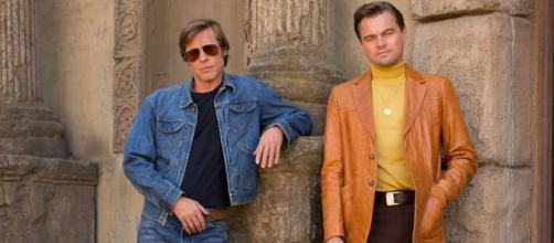 "Leonardo Di Caprio e Brad Pitt in ""C'era una volta ad...Hollywood""(via cinematographe.it)"