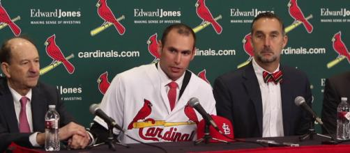Paul Goldschmidt is staying in St. Louis. [Image Credit] The St. Louis Post-Dispatch/YouTube