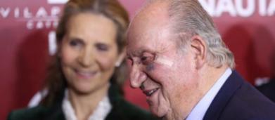 Juan Carlos I reaparece públicamente con un ojo morado tras la intervención