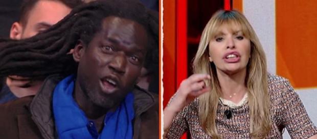 Alessandra Mussolini litiga con un mediatore culturale senegalese
