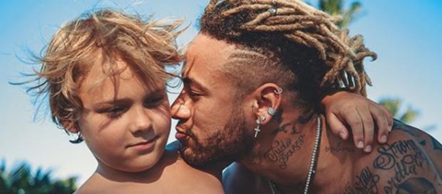 Neymar e Davi Lucca (Foto - Reprodução/Instagram/@neymarjr)