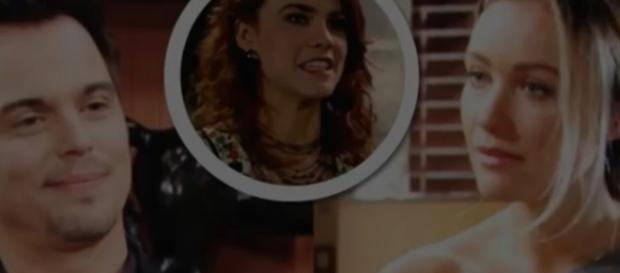 Wyatt may be in a love triangle with Sally and Flo. (Image Source:B&B World wide voice of the fans-YouTube.)