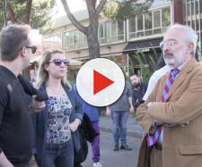 Gad Lerner a Prato per manifestare contro Forza Nuova