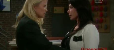 Brooke is shocked by what Taylor tells her. (Image Source:Gregorez-YouTube.)