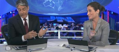 Reação dos jornalistas do Jornal Nacional repercutem na web. (Arquivo Blasting News)